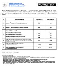 MPWiK - Komunikat - 2013